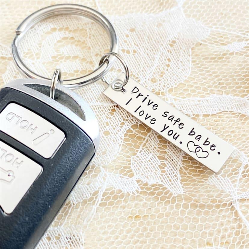 Drive Safe Keychain Jane