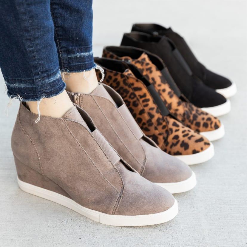 Trendy Wedge Sneakers   Jane