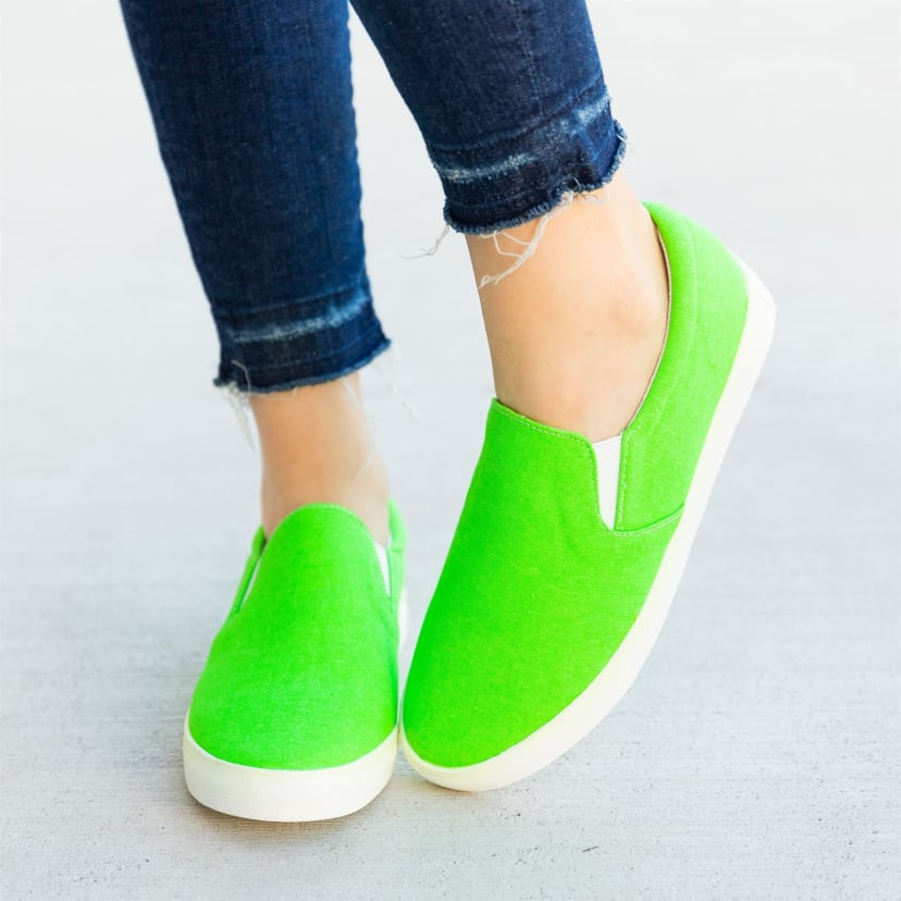 Colorful Neon Slip-On Sneakers | Jane