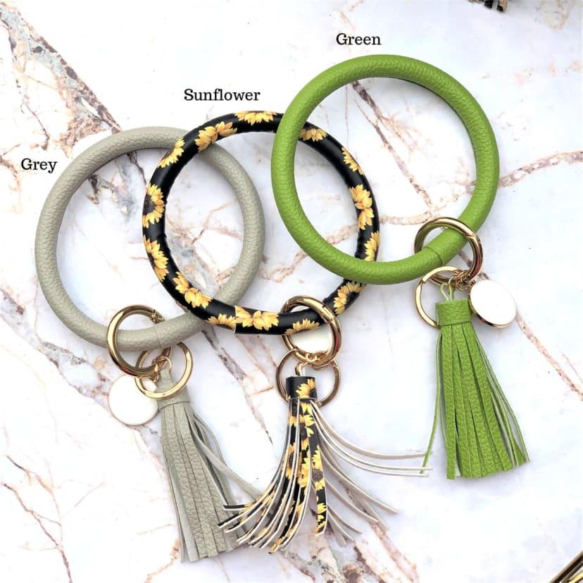 Personalized Large Keychain Ring Jane