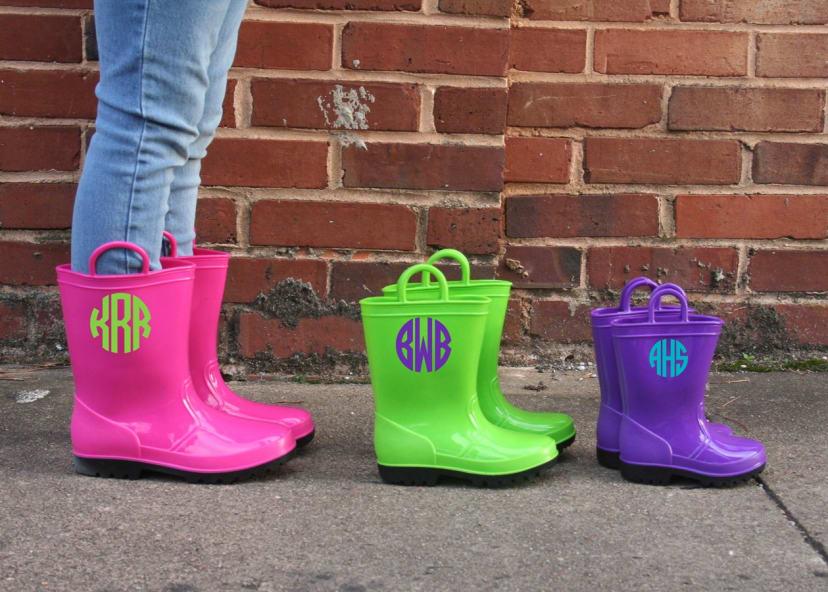 Little Girl S Monogrammed Rain Boots Jane