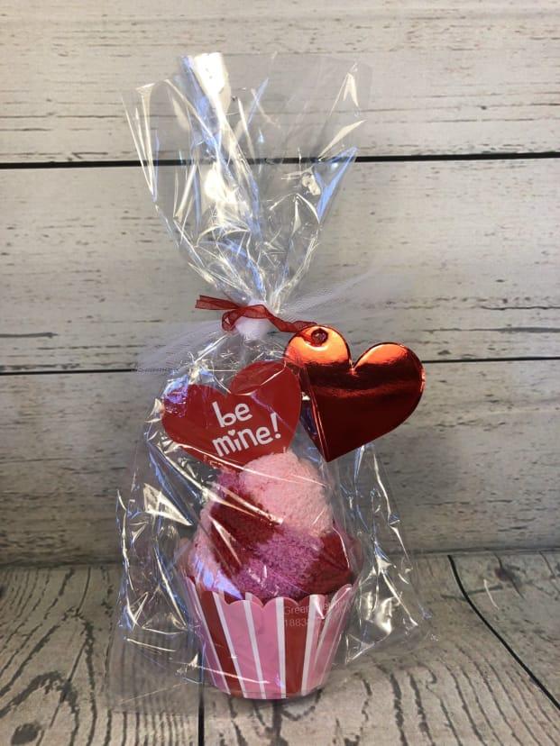 Gift Box Set for Valentines Day Cupcake Socks Valentine Fuzzy Socks for Women and Girls