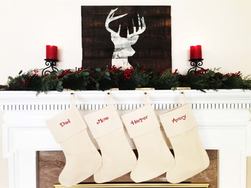 Set of 4 Personalized Christmas stockings choose your favorite 4 and personalization Ships for Christmas 2018