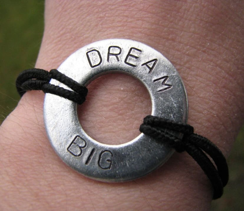 Hand Stamped Washer Bracelets Great Gift