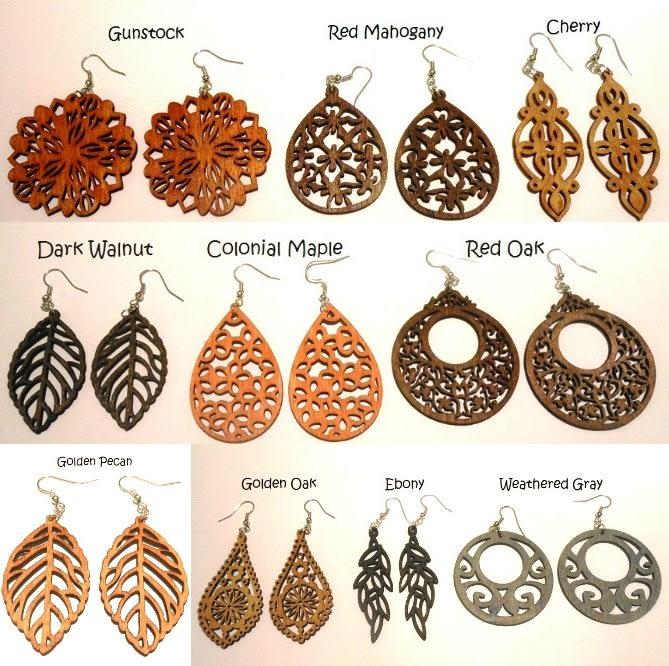 Fabulous over forty wood earrings