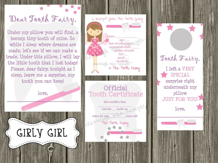photograph relating to Tooth Fairy Notes Printable referred to as Enamel Fairy Notes PRINTABLE History
