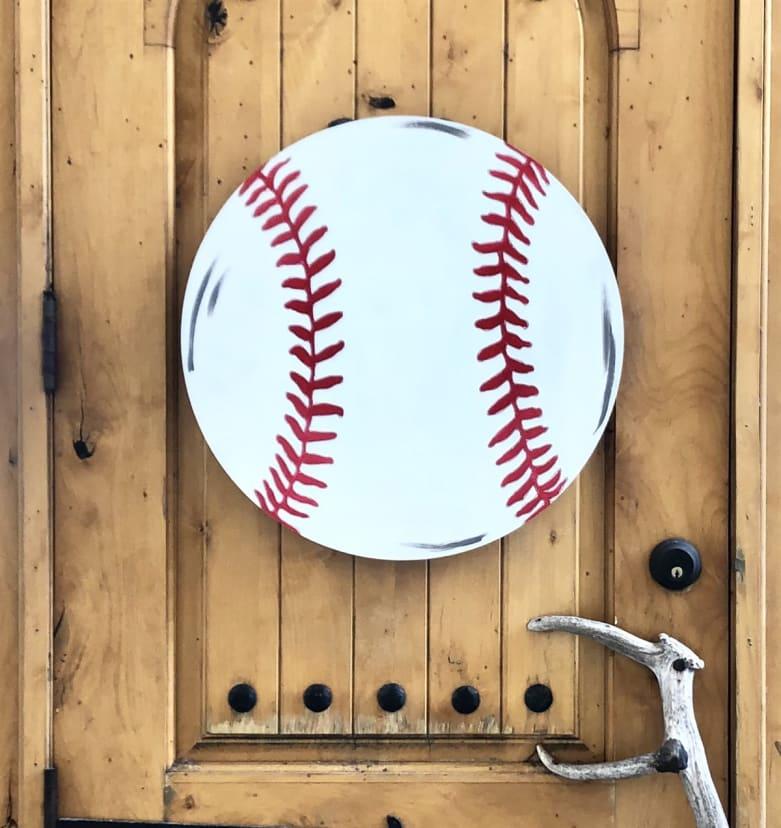 Baseball Wooden Door Hanger