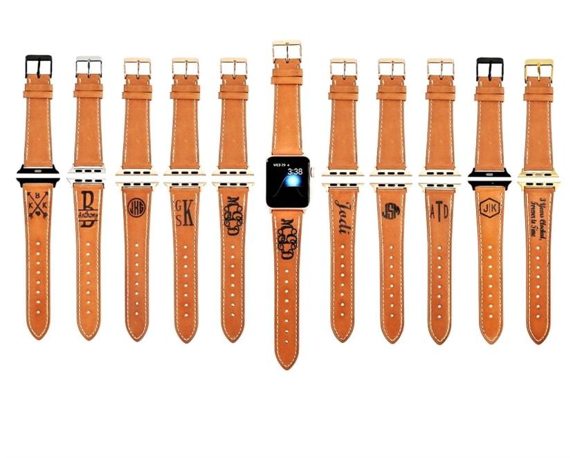 Personalized Monogram Apple Watch Band Jane