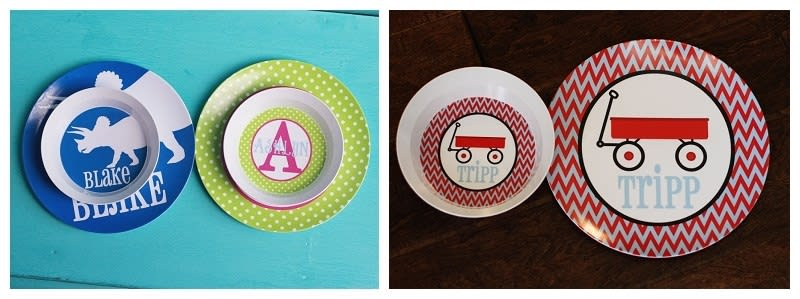 Choose HAIR SKIN color Personalized Plastic Children Plate Cereal Bowl Custom Future Detective Plate Boy Detective Plate and Bowl Set