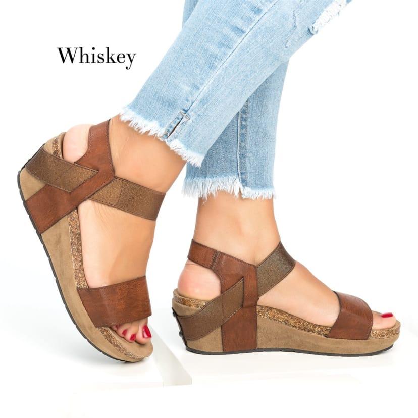 Low Heel Wedge Sandals   Jane