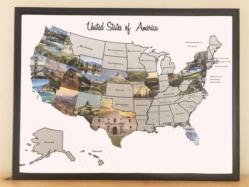 Scratch Off Us Travel Map USA Scratch Off Travel Map | Jane