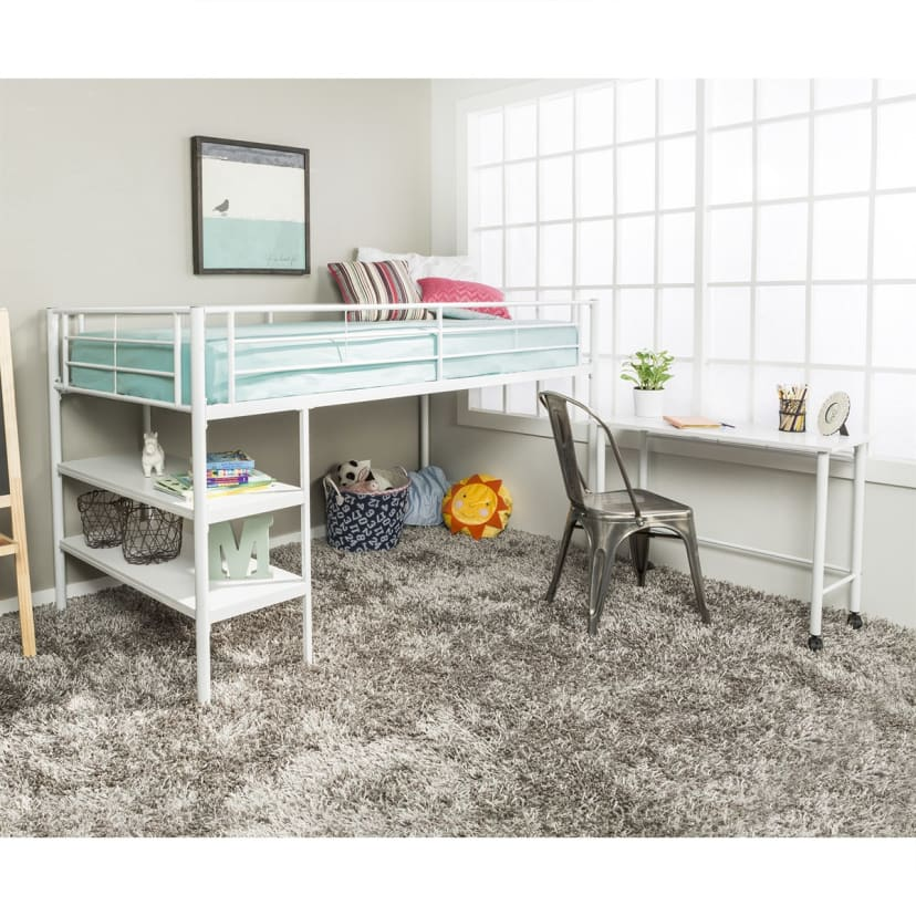 Twin Low Loft Bed With Desk Free Shipping Jane