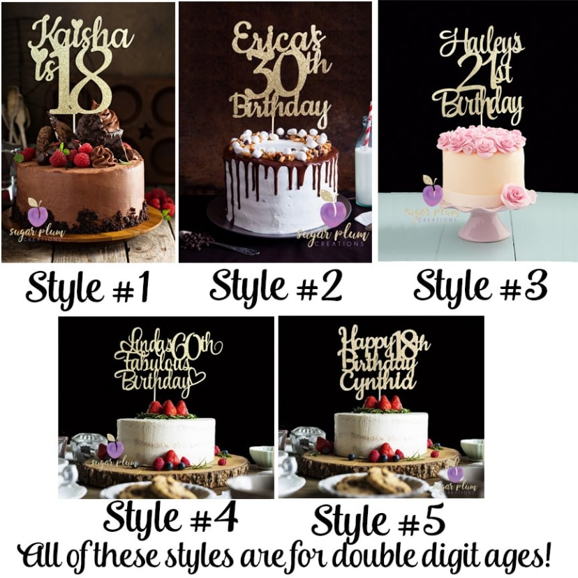 Cool Custom Birthday Cake Topper Jane Personalised Birthday Cards Veneteletsinfo