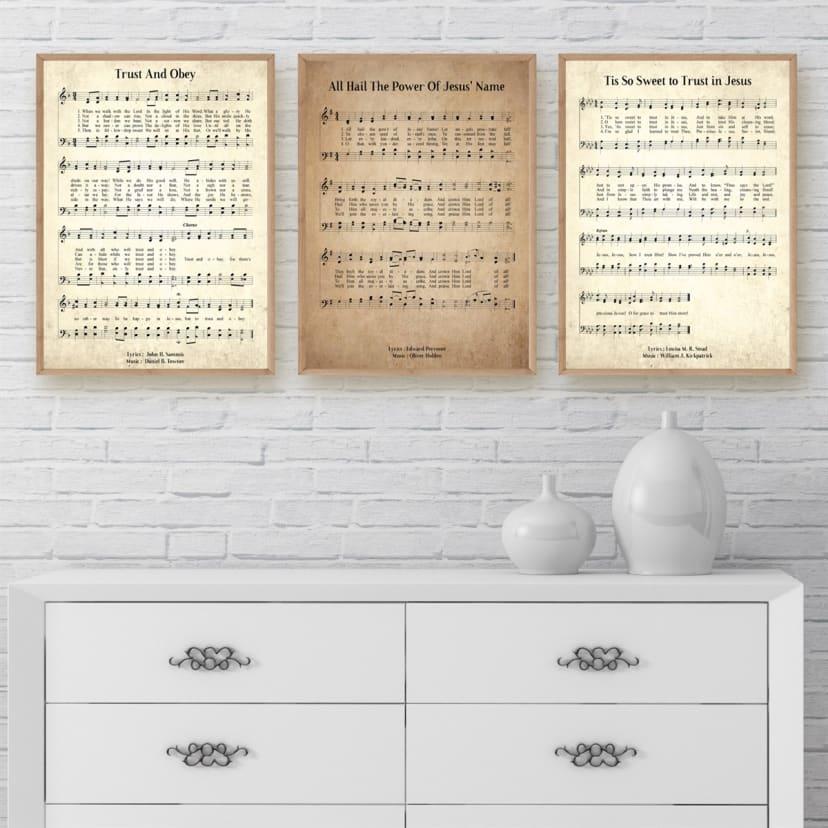 Vintage Hymn Prints   Over 200 Hymns