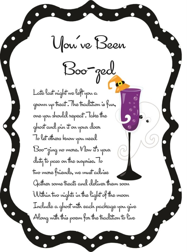 picture relating to You've Been Boozed Printable titled Youve Been Boozed! Halloween Printable