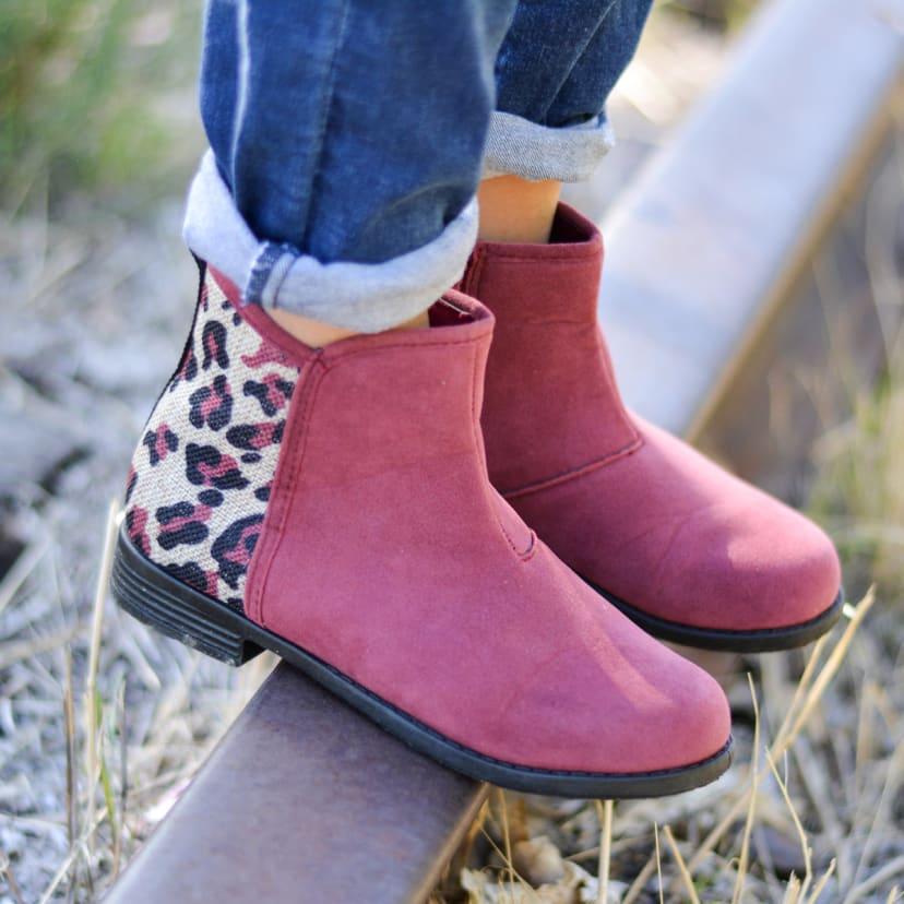 Kids Leopard Print Boots   Jane