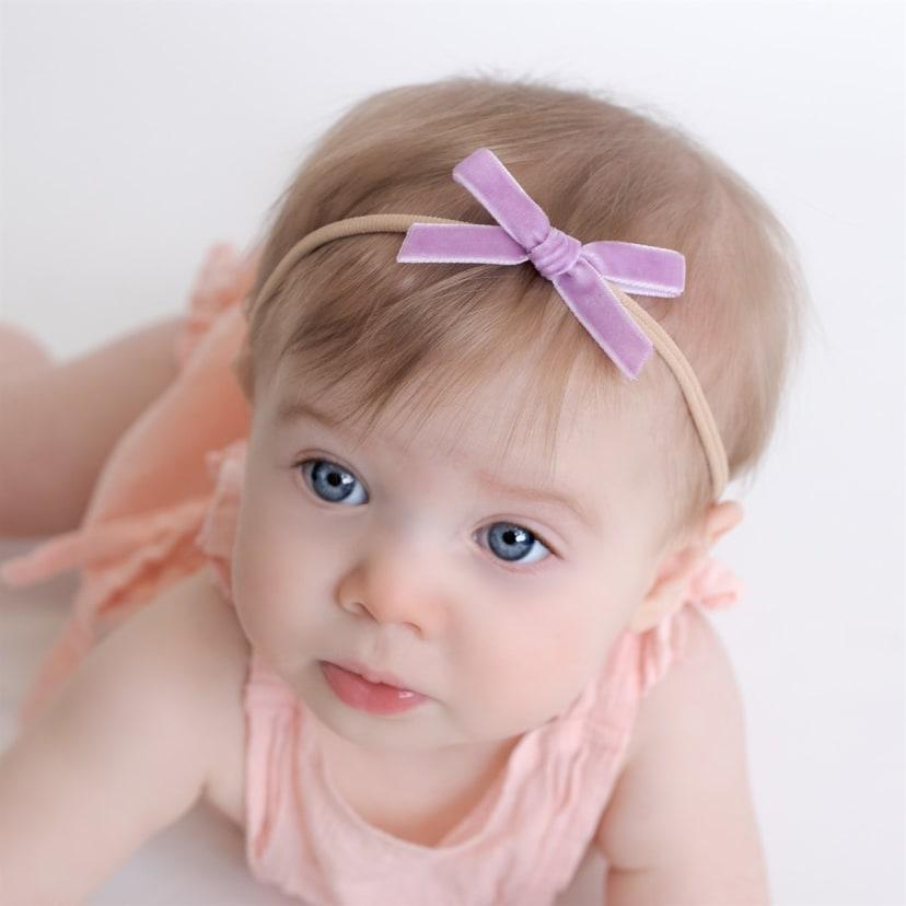 Velvet bows on Nylon
