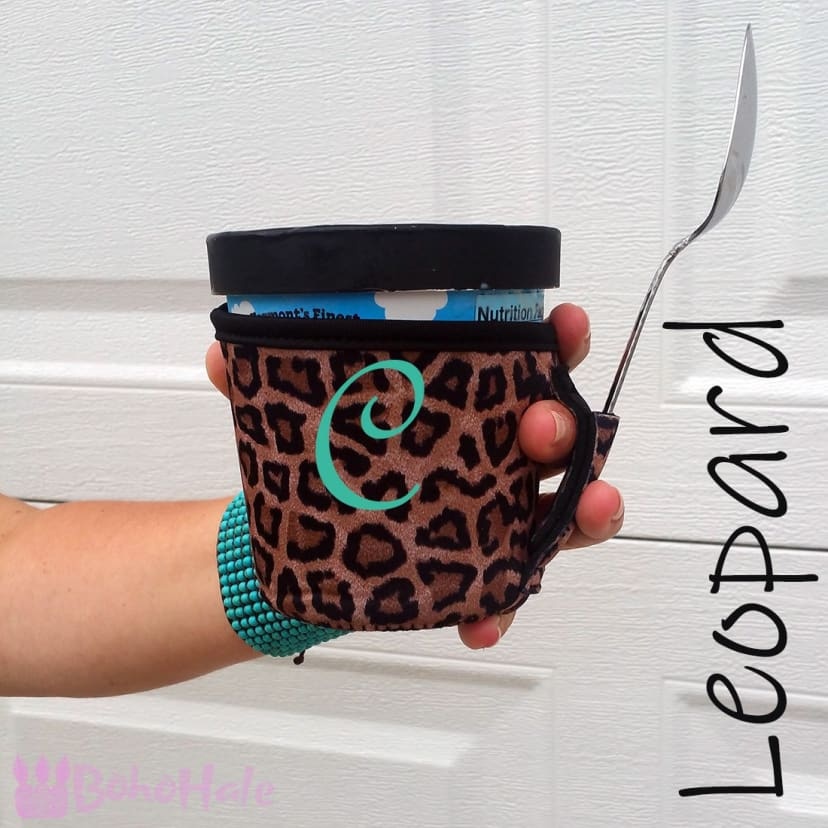 Spoon Me Insulated Ice Cream Pint Cozy Holder Sleeve Black
