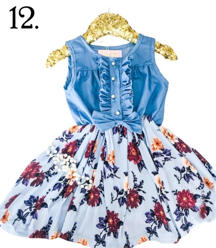 Gyratedream Summer Baby Girl Princess Dress Faux 2 Robe d/ét/é en Coton /à Manches Courtes pour b/éb/é en Maille