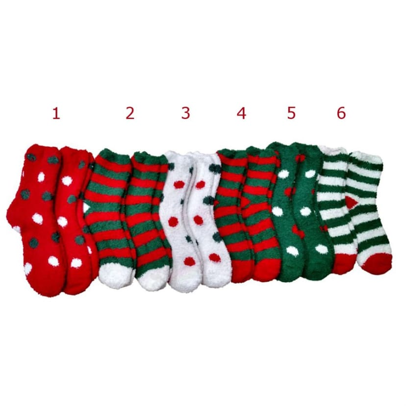 Christmas Fuzzy Socks.Fuzzy Christmas Slipper Socks