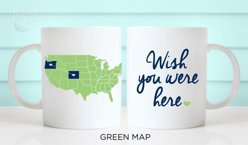 Custom Long Distance Usa Map Coffee Mug Jane