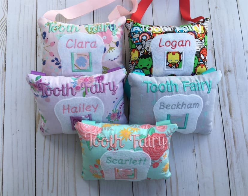 Personalized lama pillow. Lama tooth pillow Tooth fairy pillow