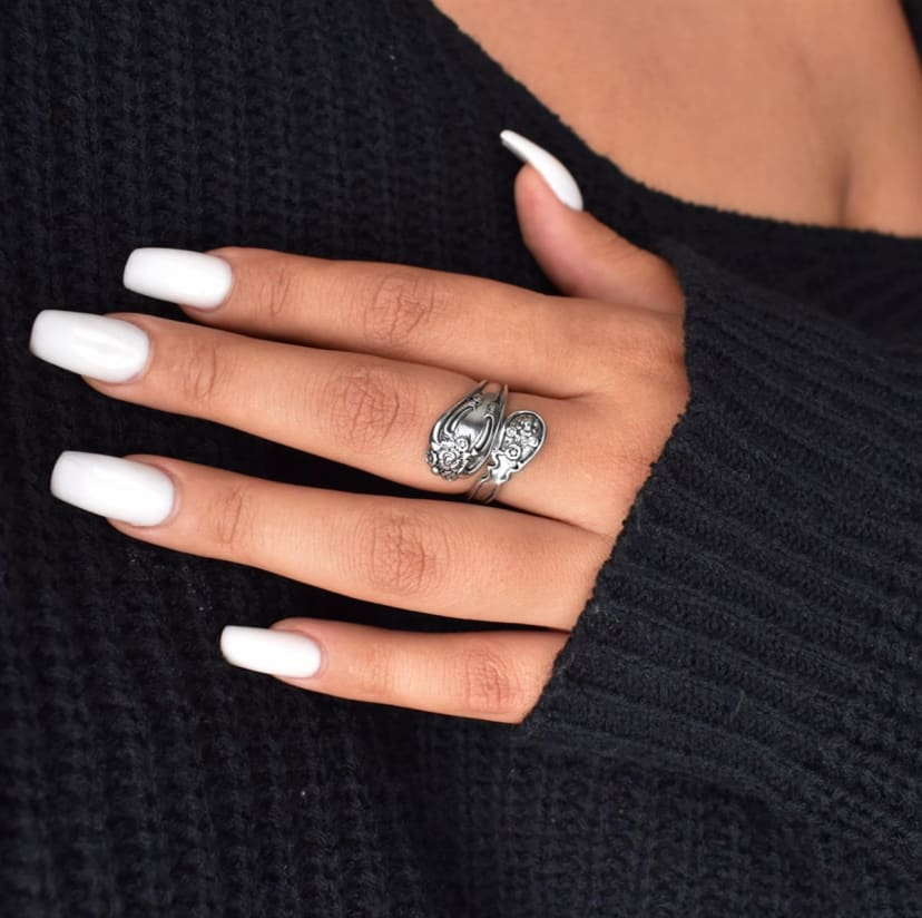 Silver spoon ring