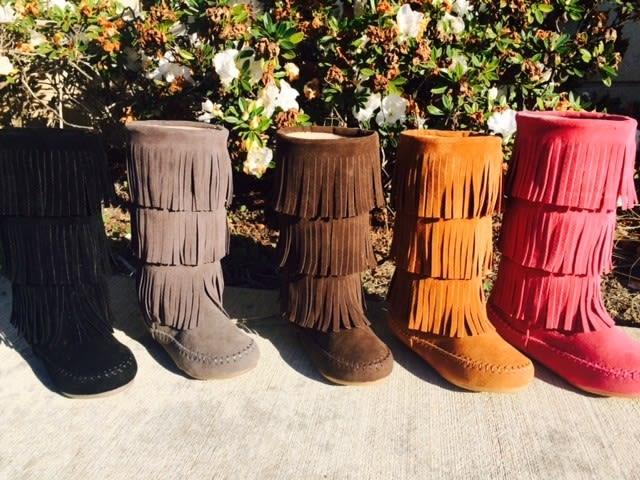 fringe boots for girls