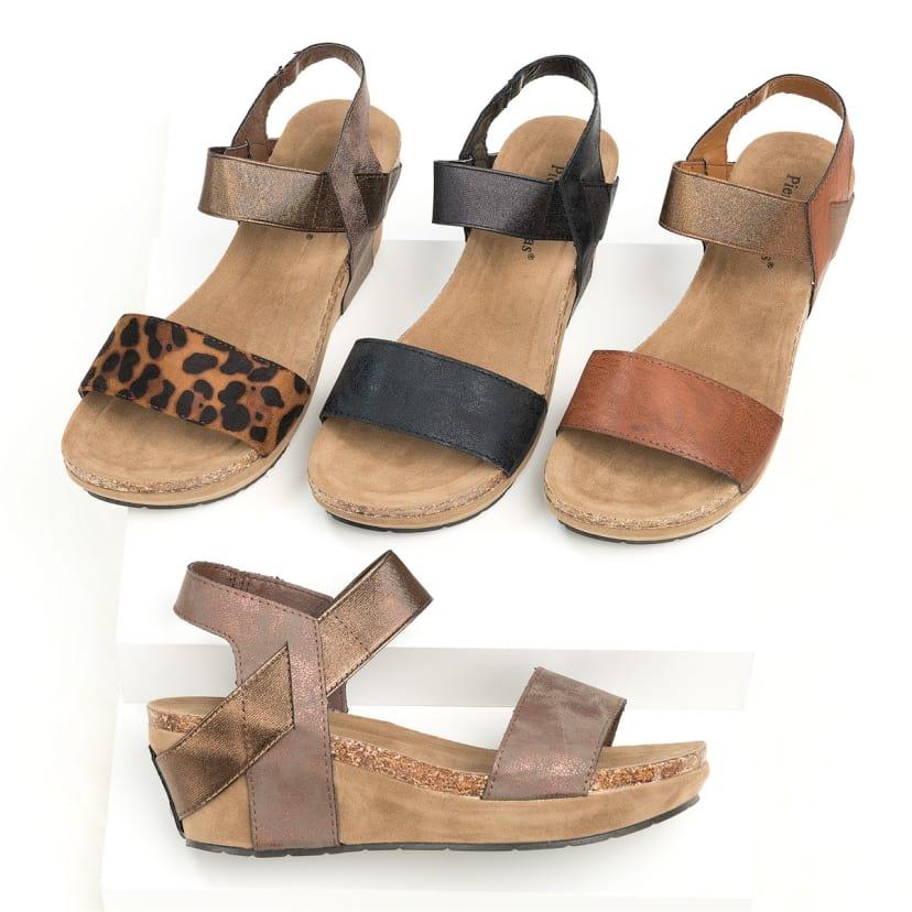 Low Heel Wedge Sandals | Jane