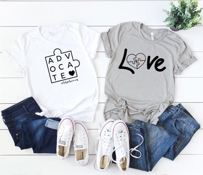 Autism Awareness Puzzle Heart Unisex Toddler Baby 2-Piece Short-Sleeve Bodysuit Baby T-Shirt Set