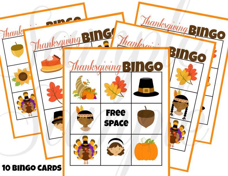 graphic regarding Free Printable Thanksgiving Bingo identify Printable Thanksgiving Bingo Game titles Fastened of 2