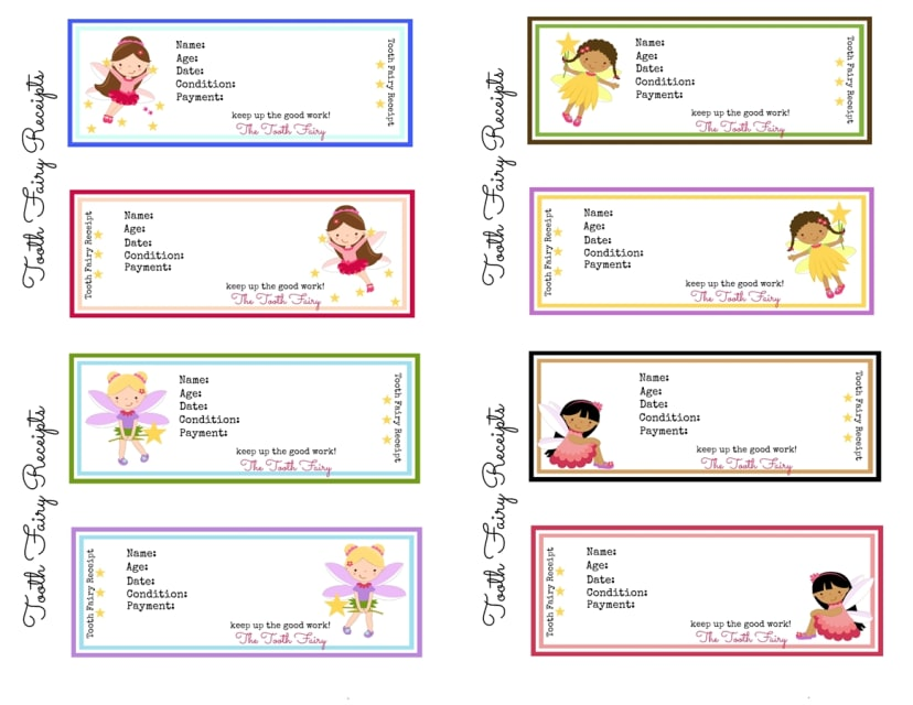 photo about Printable Tooth Fairy Receipt titled Printable Teeth Fairy Receipts!