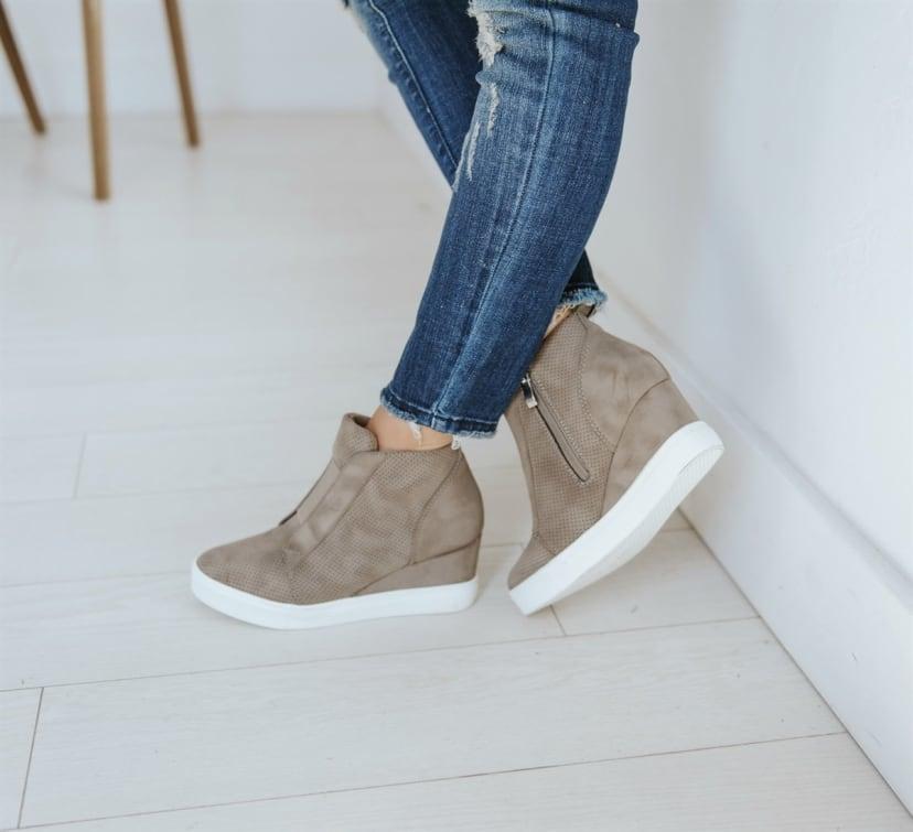 Zoey Zipper Wedge Sneaker | 4 Colors