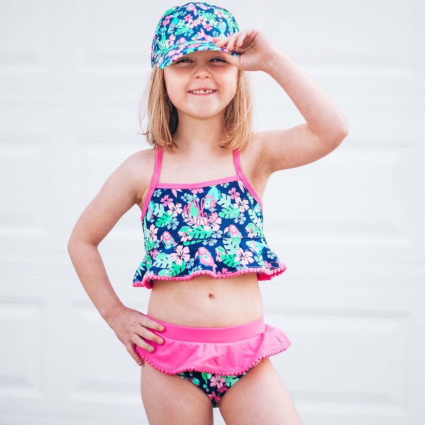 personalized swimsuit embroidered bathing suit lizzie girl 2 piece monogrammed swimsuit Monogrammed Girls bathing suit FREE monogram