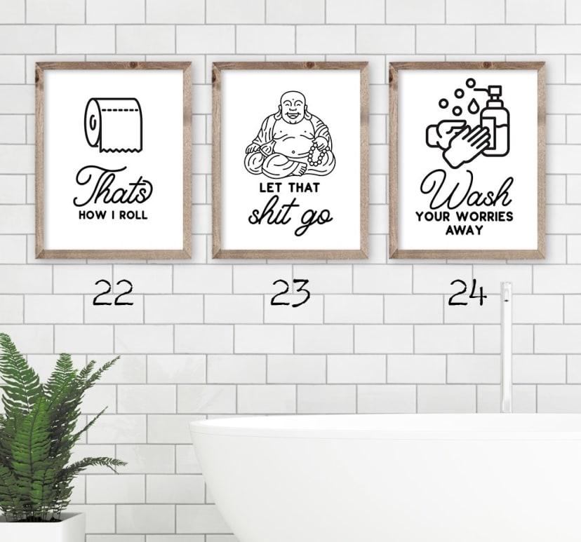 Bathroom Art Prints Jane