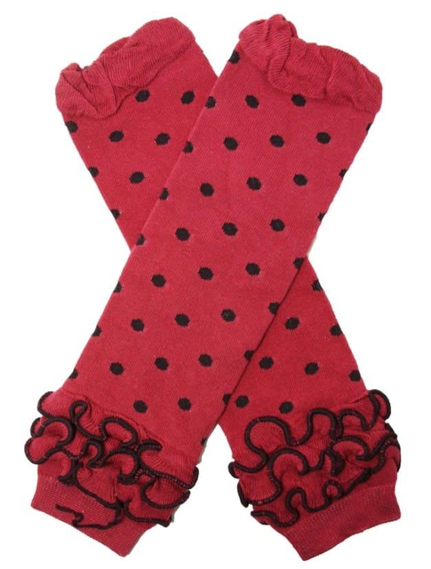 Hot Pink Polka Dot Leg Warmers with Hot Pink Ruffle Ruffle Leg Warmers Baby Girl Gift Baby Shower Gift, Polka Dot Leg Warmers