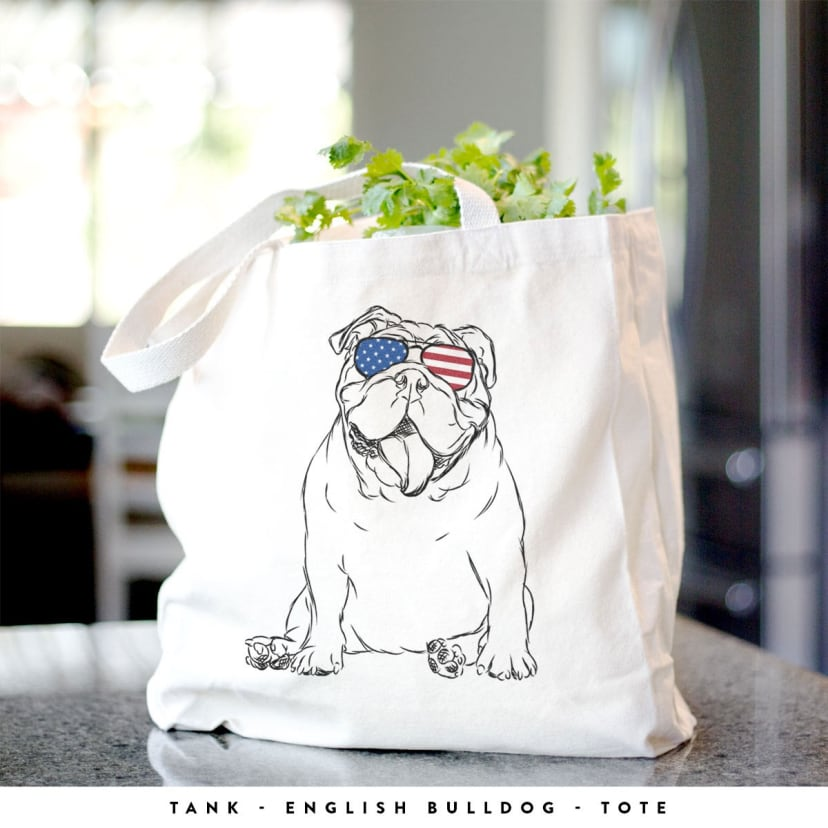 Patriotic Dog Bag