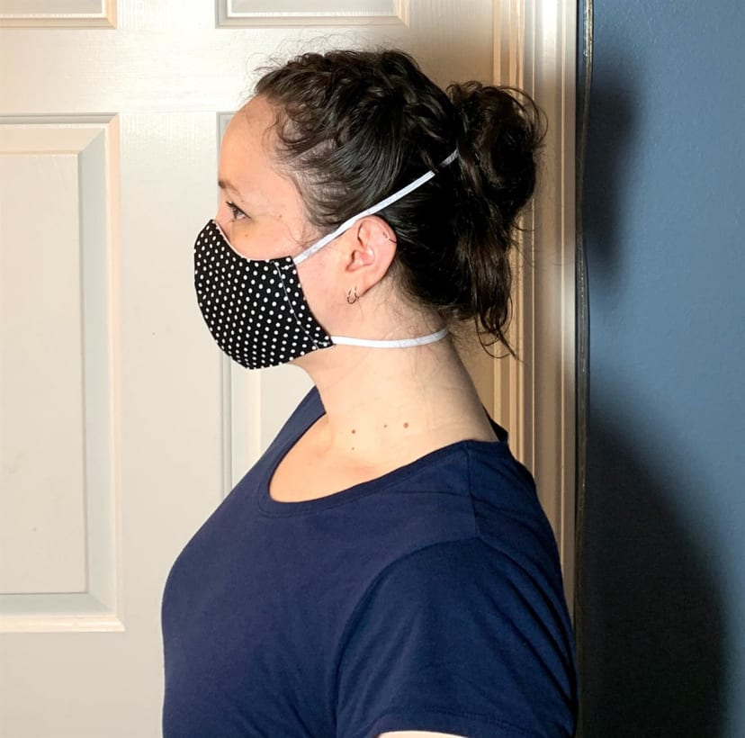 Face Masks Cotton With Elastic Bands Jane
