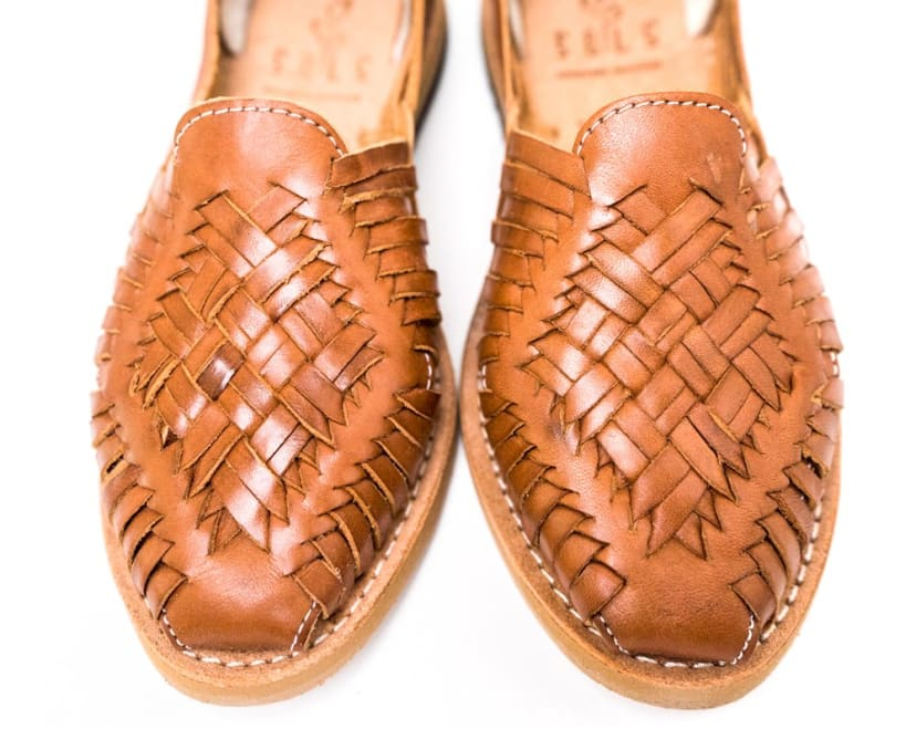 Trendy flats handmade sandals genuine leather and recycled rubber soles