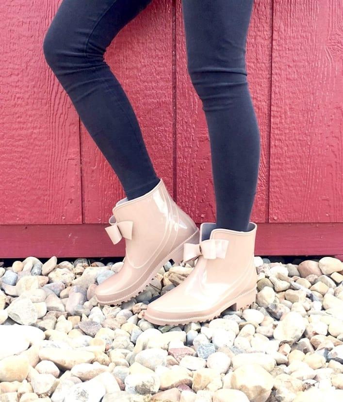Rain Boots Bow
