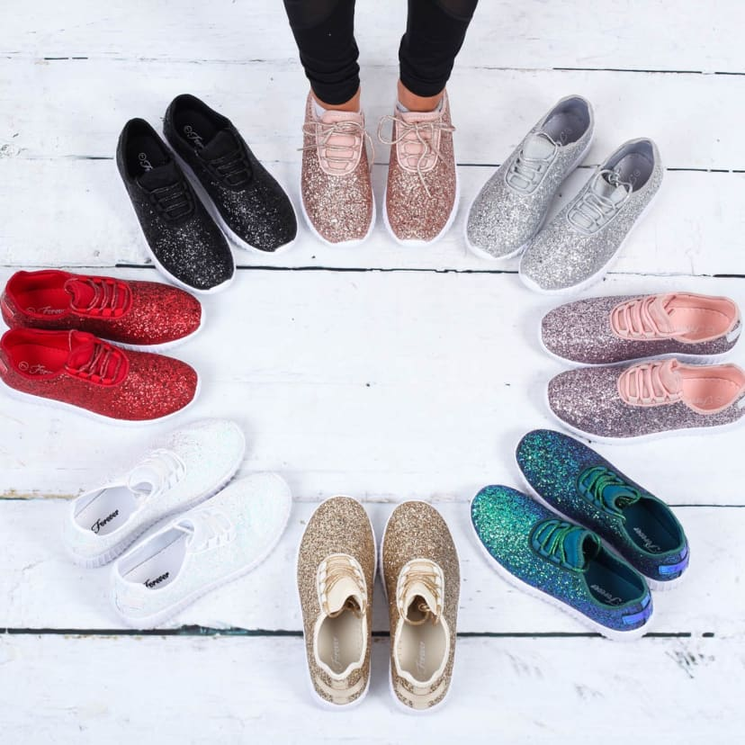 Remy Glitter Tennis Shoes   Jane