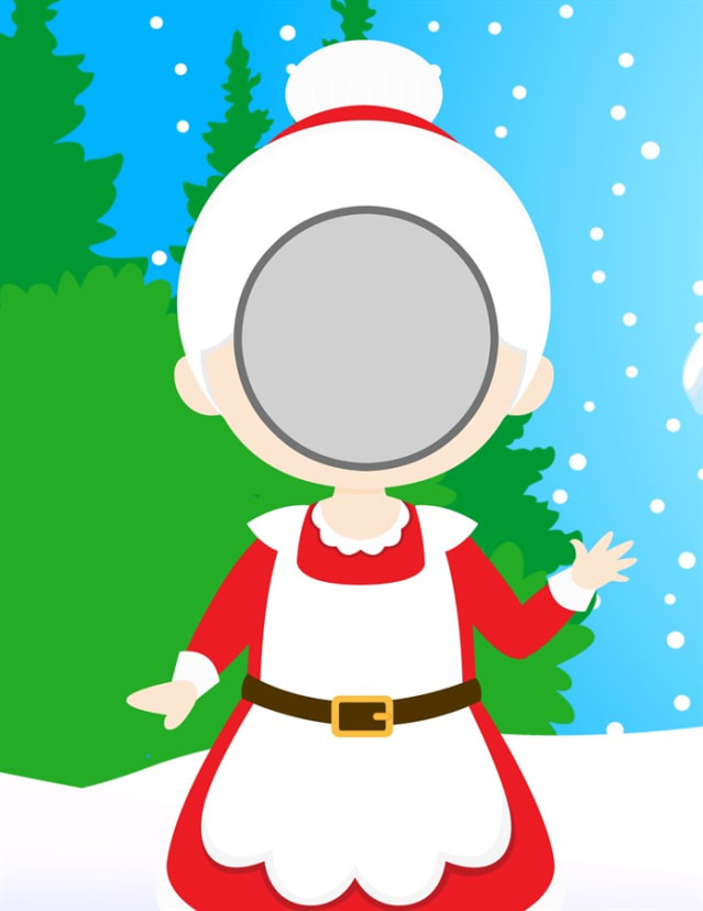 Elf Photo Props Head In The Board Cutouts Printable Download Jane