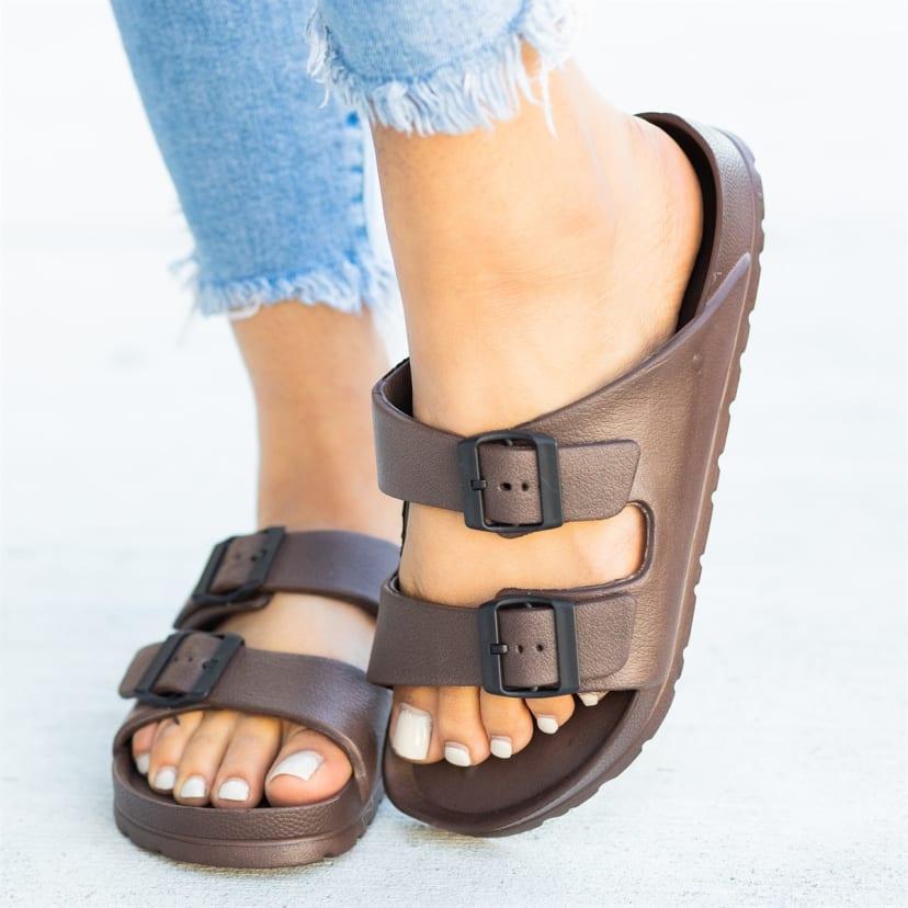 Foam Double Buckle Sandals   6+ Colors