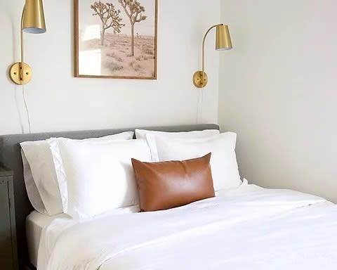 Faux Leather Lumbar Pillow Covers Jane