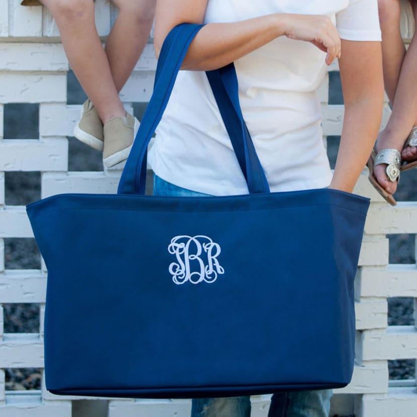 Royal Blue PersonalizedMonogrammed Small Utility ToteTote Bag