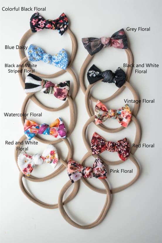 baby bow baby headband bows baby girl bow Floral baby bows bow headbands : Purple headband headband Mustard baby girl headband