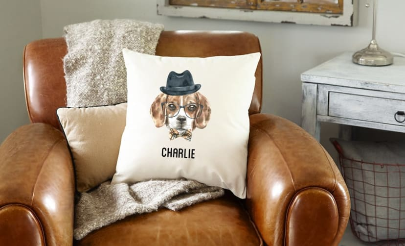 Groovy Personalized Watercolor Dog Pillow Covers Ncnpc Chair Design For Home Ncnpcorg