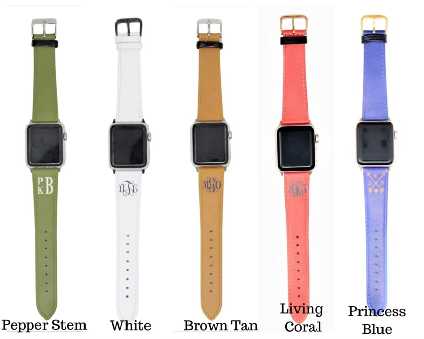 Personalized Monogram Apple Watch Band Jane
