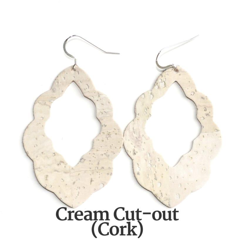 Star earrings Cork earrings Leather earrings Cork and leather star earrings Gifts for her