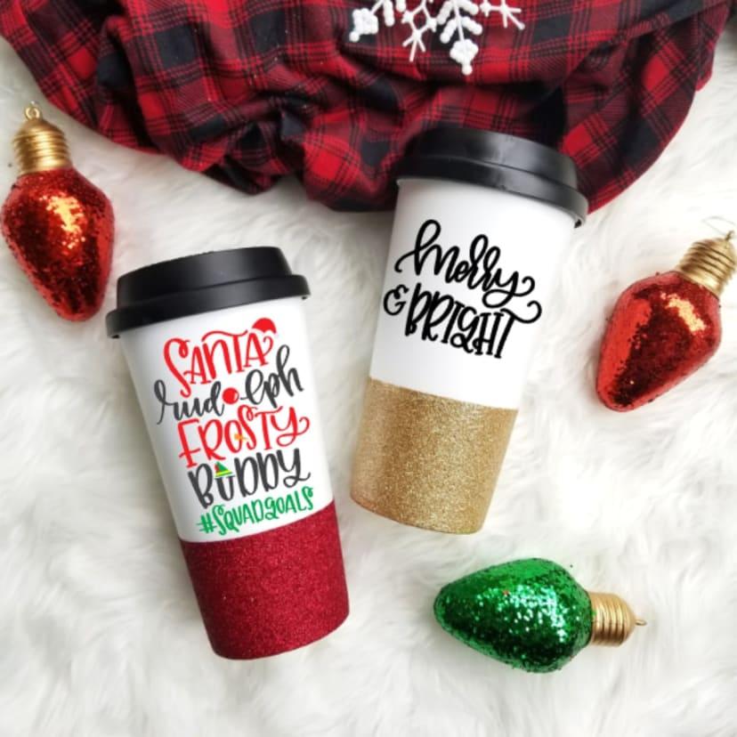 Fun Christmas Travel Mugs Jane